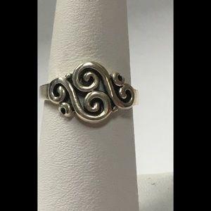 "Sterling Silver ""S"" Shape Design Ring"